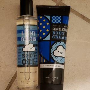 Body oil and body cream